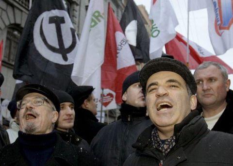 קספרוב, לימונוב מפגינים במוסקבה